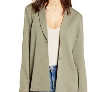 Leith Dusty Olive Green Soft Blazer Jacket
